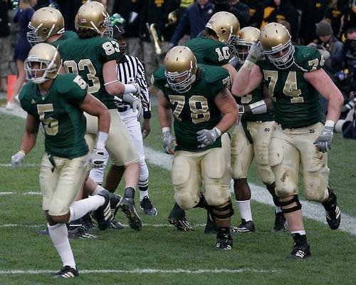 Notre Dame vs. Army<br /> Darius Walker Touchdown