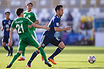 Yoshida Maya of Japan (R) runs past Hojayev Resul of Turkmenistan (L) during the AFC Asian Cup UAE 2019 Group F match between Japan (JPN) and Turkmenistan (TKM) at Al Nahyan Stadium on 09 January 2019 in Abu Dhabi, United Arab Emirates. Photo by Marcio Rodrigo Machado / Power Sport Images