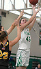 Jamie McSorley #45 of Seaford scores from short range during a non-league varsity girls basketball game against Wantagh at Seaford High School on Friday, Dec. 29, 2017. Seaford won in wire-to-wire fashion by a score of 65-56.