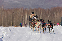 Mike Cox races in the 2008 Open North American Championship sled dog race, third heat, March 16, 2008.