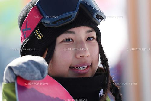 Kurumi Imai (JPN), <br /> FEBRUARY 17, 2017 - Snowboarding : <br /> FIS Snowboard World Cup <br /> Women's Halfpipe Qualification<br /> at Bokwang Phoenix Park, PyeongChang, South Korea. <br /> (Photo by YUTAKA/AFLO SPORT)