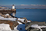 "Portland Breakwater Light / ""Bug Light"" overlooks Casco Bay in South Portland, ME, USA"