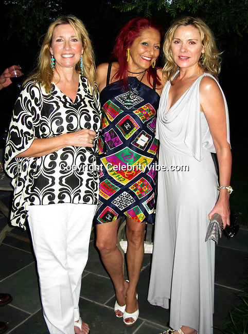 Kim Cattrall's sister, Patricia Field Stylist of Sex and the City TV Show, Kim Cattrall of Sex and The City TV Show.MoveOpolis! Summer Gala in Bridgehampton.Chad A. Leat Residence.Bridgehampton, NY, USA.Saturday, August 09, 2008.Photo By Celebrityvibe.com.To license this image please call (212) 410 5354; or Email: celebrityvibe@gmail.com ;.website: www.celebrityvibe.com