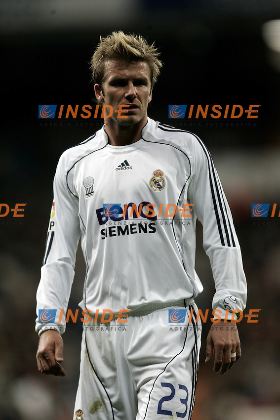 Real Madrid's David Beckham during the Spanish League match between Real Madrid and Real Betis at Santiago Bernabeu Stadium  in Madrid, Saturday February 17 2007. (INSIDE/ALTERPHOTOS/B.echavarri).