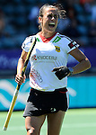 The Hague, Netherlands, June 13: Tina Bachmann #2 of Germany gestures during the field hockey placement match (Women - Place 7th/8th) between Korea and Germany on June 13, 2014 during the World Cup 2014 at Kyocera Stadium in The Hague, Netherlands. Final score 4-2 (2-0)  (Photo by Dirk Markgraf / www.265-images.com) *** Local caption ***