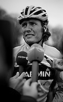 Paris-Roubaix 2012 ..Johan Van Summeren interviewed post-race