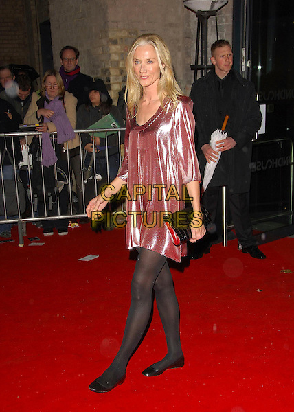 JOELY RICHARDSON.The British Independent Film Awards, The Roundhouse, London, England..November 28th, 2007.full length black tights clutch bag purse pumps shoes dress pink shimmer shimmery shiny tunic .CAP/CAS.©Bob Cass/Capital Pictures