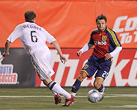 Domenic Mediate #6 of DC United & Dema Kovalenko #21 of Real Salt Lake in the DC United @ Real Salt Lake 0-4 Real Salt Lake victory at Rice-Eccles Stadium in Salt Lake City, Utah on April 12, 2008