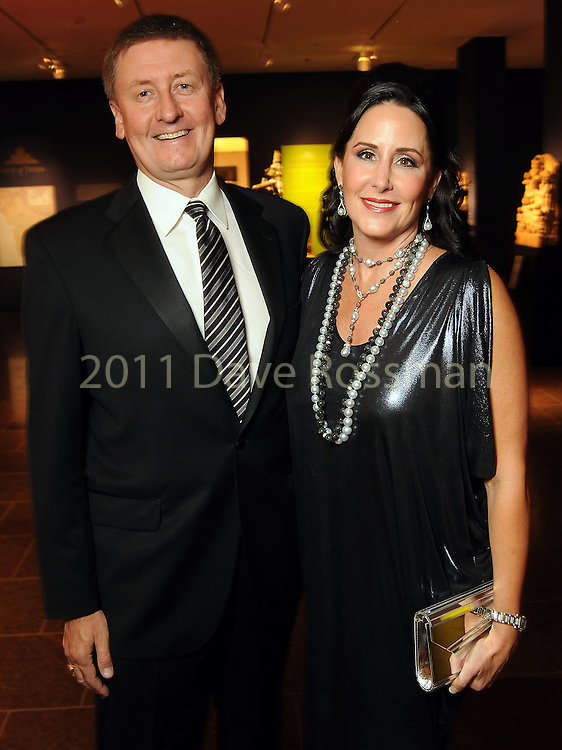 Liz and Tom Glanville at the Museum of Fine Arts Houston 's 2010 Grand Gala Ball  Friday Oct. 01, 2010. (Dave Rossman/For the Chronicle)