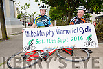 Registration now open for the Mike Murphy Memorial Cycle pictured here l-r; Brendan O'Sullivan(Chairman) & Mike Greaney(Secretary).