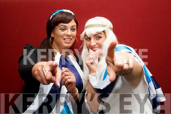 Performing a tribute to ABBA at the Lip Sync Super Stars fundraiser were l-r; Alannah Kelleher & Deirdre O'Shea.