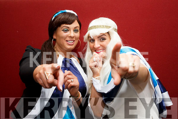 Performing a tribute to ABBA at the Lip Sync Super Stars fundraiser were l-r; Alannah Kelleher & Deirdre O'Shea.