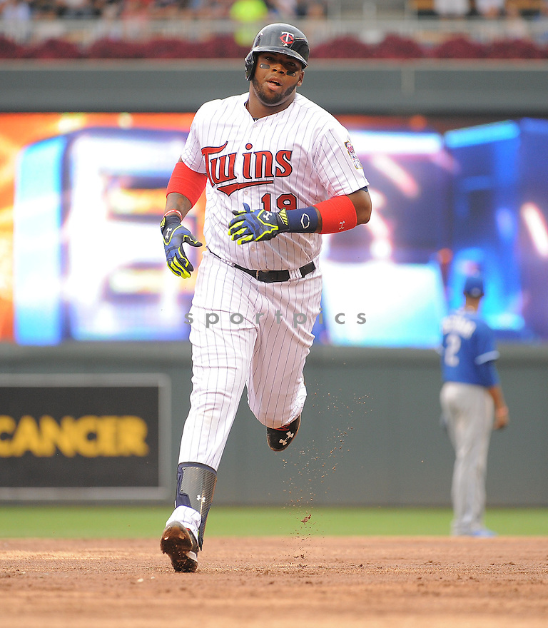 Minnesota Twins Kennys Vargas (19) during a game against the Kansas City Royals on August 17, 2014 at Target Field in Minneapolis, MN. The Royals beat the Twins 12-6.