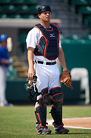 Detroit Tigers catcher Jake Rogers (52) during an Instructional League game against the Toronto Blue Jays on October 12, 2017 at Joker Marchant Stadium in Lakeland, Florida.  (Mike Janes/Four Seam Images)