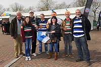 A general view of supporters enjoying the pre-match atmosphere. The Clash, Aviva Premiership match, between Bath Rugby and Leicester Tigers on April 7, 2018 at Twickenham Stadium in London, England. Photo by: Rob Munro for Onside Images