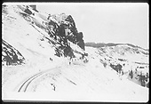 Clearing snow on Windy Point.<br /> D&amp;RGW  Cumbres, CO