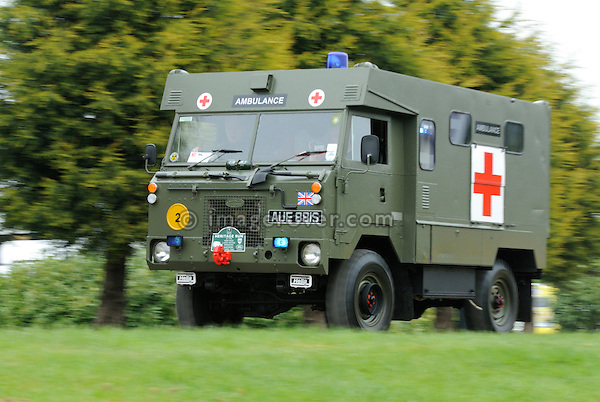 Land Rover 101 Ambulance at the Gaydon Heritage Land Rover Run 2006. Europe, England, UK. --- No releases available. Automotive trademarks are the property of the trademark holder, authorization may be needed for some uses.