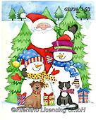 Kate, CHRISTMAS SANTA, SNOWMAN, WEIHNACHTSMÄNNER, SCHNEEMÄNNER, PAPÁ NOEL, MUÑECOS DE NIEVE, paintings+++++Christmas page 50 1,GBKM163,#x#