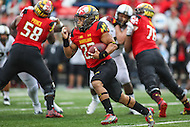 College Park, MD - October 1, 2016: Maryland Terrapins running back Lorenzo Harrison (23) in action during game between Purdue and Maryland at  Capital One Field at Maryland Stadium in College Park, MD.  (Photo by Elliott Brown/Media Images International)