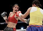 Titulo  ligero de la  asociancoion mundial de boxeo (AMB) entre Kina Malpartida vs Liliana Palmeras retubo el titulo kina por desicion