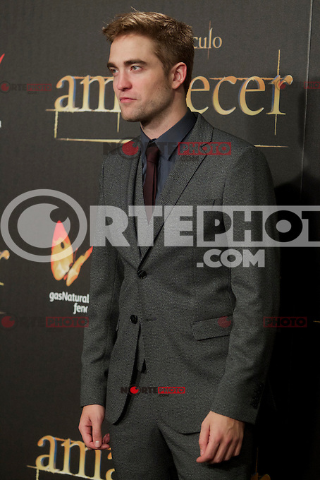 Robert Pattison during the premiere of The Twilight Saga: Breaking Dawn. November 15, 2012. (ALTERPHOTOS/Alvaro Hernández) /NortePhoto