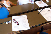 Il test ammissione alla facoltà di medicina e chirurgia. Milano, 5 settembre, 2011...The Medicine and Surgery University entrance test. Milan, September 5, 2011