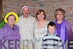 JOYFUL: Enjoying the Kilcummin Christmas party in Darby O'Gills Killarney on Sunday were l-r: Kathleen Lynch, PJ Keane, Brid Fleming, Adam Fleming and Mary Hutchinson.   Copyright Kerry's Eye 2008