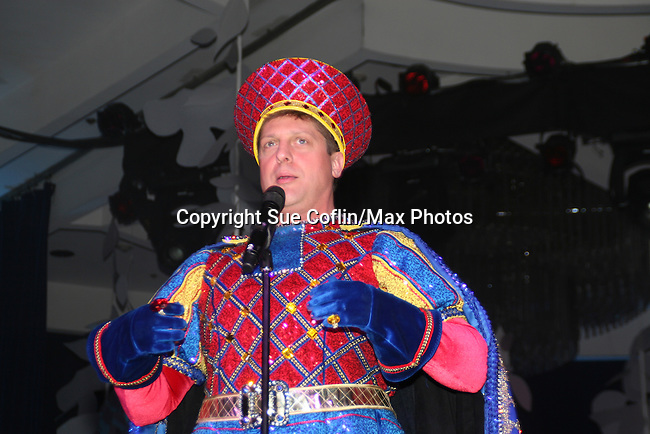 Christopher Sieber performs Shrek at The Imperial Court of New York as it presents 23rd Annual Night of a Thousand Gowns Charity Ball and Auction to benefit LIFEbeat (Music Industry Fights AIDS) and MCCNY Homeless Youth Services on March 21, 2009 at the New York Marriott Marquis, New York City, NY. (Photo by Sue Coflin/Max Photos)....
