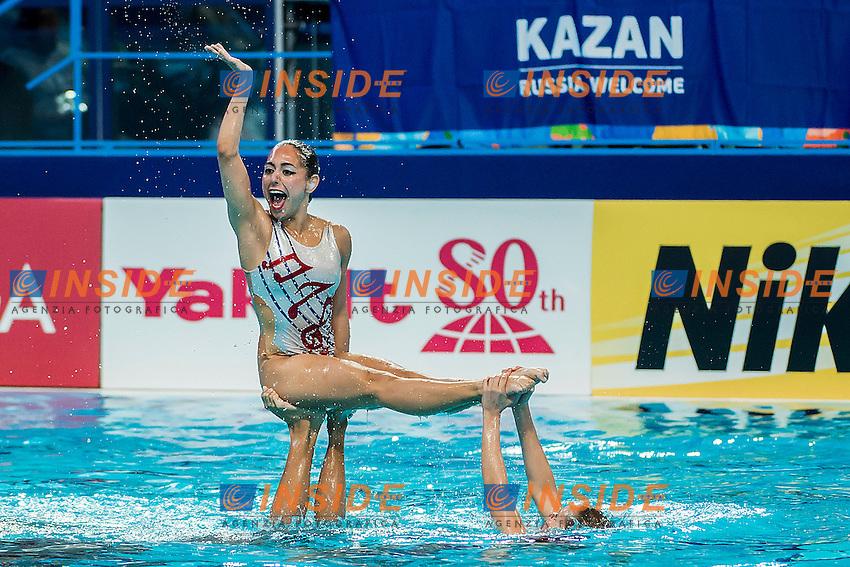 Team Mexico MEX<br /> Women's Free Combination Preliminary Free Combination - Kazan Arena<br /> Day03 25/07/2015<br /> XVI FINA World Championships Aquatics Swimming<br /> Kazan Tatarstan RUS July 24 - Aug. 9 2015 <br /> Photo A.Masini/Deepbluemedia/Insidefoto