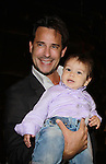 Ricky Paull Goldin and son Kai at All My Children's Good Night Pine Valley was held on September 17, 2011 at Prohibition, New York City, New York.  (Photo by Sue Coflin/Max Photos)