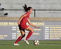 BERKELEY, CA - October 4, 2016: Stanford Cardinal Women's Soccer team vs. Cal Bears at Goldman Field. Final score, Cal Bears 1, Stanford Cardinal 4.