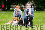Patrick and Amy Pitman from Tralee with their dogs Winston and Pepe. Pepe came 2nd in the large dog category of the dog showin association with Animal Help.Net Kerry at the Feile na Blath  in the Town park on Saturday