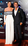 Laura Sanchez and David Ascanio during Photocall previous to Starlite Gala 2019. August 11, 2019. (ALTERPHOTOS/Francis González)