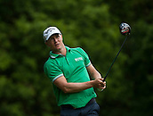 24.05.2015. Wentworth, England. BMW PGA Golf Championship. Final Round.  Alex Noren [SWE] starts the day five shots off the lead.  Tee shot 3rd hole during the final round of the 2015 BMW PGA Championship from The West Course Wentworth Golf Club