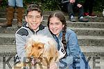 Enjoying  the Kingdom County Fair in Ballybeggan on Sunday were Adam and Nicole Walker with Benji.