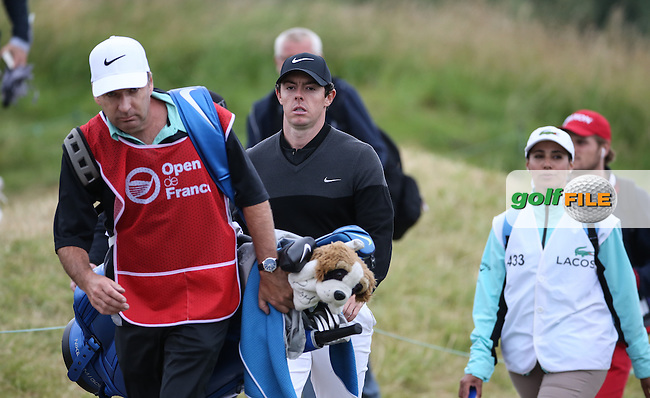Rory McIlroy (NIR) heads to the 18th during the Final Round of the 100th Open de France, played at Le Golf National, Guyancourt, Paris, France. 03/07/2016. Picture: David Lloyd | Golffile.<br /> <br /> All photos usage must carry mandatory copyright credit (&copy; Golffile | David Lloyd)