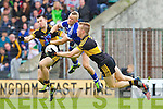 John Payne and Fionn Fitzgerald  Dr Crokes in action against Barry John Keane Kerins O'Rahillys in the Semi Finals of the Senior County Football Championship at Austin Stack Park on Sunday.