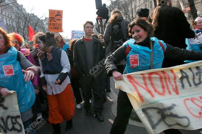 Anti-CPE law demonstration, Paris, France, March 18, 2006