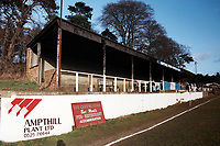 General view of Ampthill Town FC Football Ground, Ampthill Park, Woburn Road, Ampthill, Bedfordshire, pictured on 15th February 1992