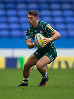 London Irish's Alex Lewington in action during todays match<br /> <br /> Photographer Bob Bradford/CameraSport<br /> <br /> Aviva Premiership Round 20 - London Irish v Exeter Chiefs - Sunday 15th April 2018 - Madejski Stadium - Reading<br /> <br /> World Copyright &copy; 2018 CameraSport. All rights reserved. 43 Linden Ave. Countesthorpe. Leicester. England. LE8 5PG - Tel: +44 (0) 116 277 4147 - admin@camerasport.com - www.camerasport.com