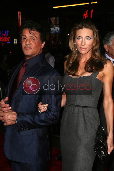 Sylvester Stallone and wife Jennifer Flavin<br />