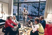 Apres ski party, Snowbird Ski resort, Snowbird Utah, 1972. Photo by John G. Zimmerman