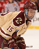 JD Dudek (BC - 15) - The Boston University Terriers defeated the Boston College Eagles 3-1 in their opening Beanpot game on Monday, February 6, 2017, at TD Garden in Boston, Massachusetts.