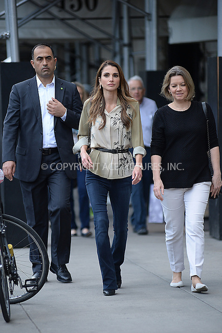 www.acepixs.com<br /> September 21, 2016  New York City<br /> <br /> Queen Rania Al-Abdullah of Jordan was seen walking in Midtown on September 21, 2016 in New York City.<br /> <br /> <br /> Credit: Kristin Callahan/ACE Pictures<br /> <br /> <br /> Tel: 646 769 0430<br /> Email: info@acepixs.com