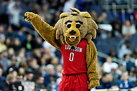 Washington, DC - MAR 10, 2018: Davidson Wildcats mascot performs during a timeout of the semi final match up of the Atlantic 10 men's basketball championship between Davidson and St. Bonaventure at the Capital One Arena in Washington, DC. (Photo by Phil Peters/Media Images International)