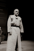 "King Lear (Anthony Hopkins) in  ""King Lear"" by William Shakespeare at the National Theatre, London 1986.  Directed by David Hare and designed by Hayden Griffin."