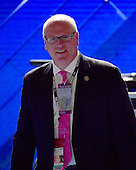 United States Representative Joe Crowley (Democrat of New York) on the podium prior to the start of the second session of the 2016 Democratic National Convention at the Wells Fargo Center in Philadelphia, Pennsylvania on Tuesday, July 26, 2016.<br /> Credit: Ron Sachs / CNP<br /> (RESTRICTION: NO New York or New Jersey Newspapers or newspapers within a 75 mile radius of New York City)