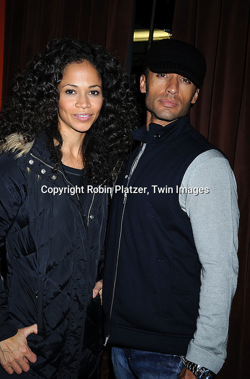 Sherri Saum and husband Kamar de los Reyes..at The One Life to Live Christmas party on December 11, 2008 at Prohibition in New York City. ....Robin Platzer, Twin Images