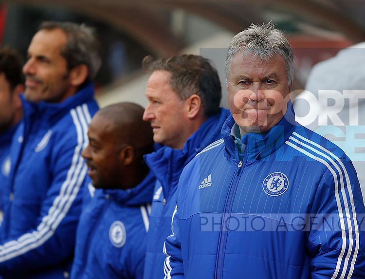 Guus Hiddink manager of Chelsea during the Barclays Premier League match at the Stadium of Light, Sunderland. Photo credit should read: Simon Bellis/Sportimage