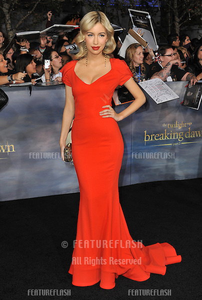 "Christian Serratos at the world premiere of ""The Twilight Saga: Breaking Dawn - Part 2"" at the Nokia Theatre LA Live..November 12, 2012  Los Angeles, CA.Picture: Paul Smith / Featureflash"